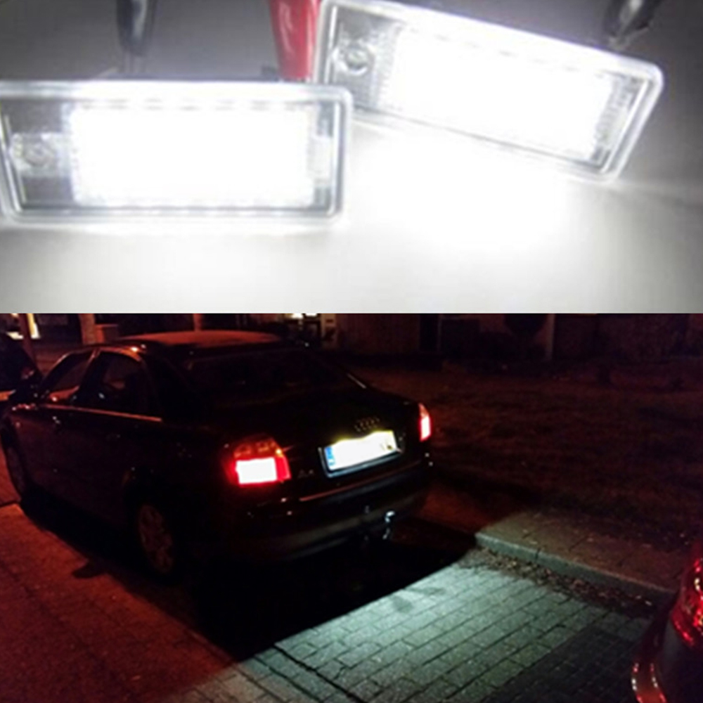 Audi R8 07-on SUPER STRONG Canbus Bright White LED Number Plate 36mm C5W Bulbs