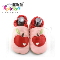 TipsieToes Apple Pattern Genuine Leather Soft Baby Kids Toddler Shoes Moccasins For Girls First Walkers New