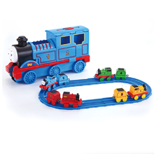 Thomas track large inertia track train pull back toy storage car children interactive toy train holiday gift Christmas gift zhenwei magnetic thomas train wooden track car children s puzzle early learning toy cake decoration diecast train action figure