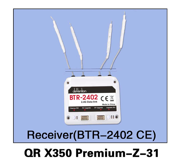 F14457 Walkera QR X350 Premium-Z-31 BTR-2402(CE) Receiver for Walkera QR X350 Premium Helicopter walkera qr x350 premium z 25 29 6v 3000mah lipo battery for walkera qr x350 premium helicopter f14451