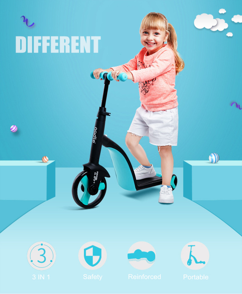 3 in 1 Kids Kick Scooter Tricycle Baby Balance Bike Ride On Toys Boy Girl Scooter Adjustable Toddler Birthday Gift Baby stuff in Ride On Cars from Toys Hobbies