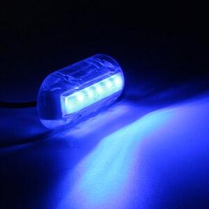 Image 2 - 12 V הימי יאכטה סירת LED מתחת למים אור אשנב תאורה לבן/כחול/ירוק עמיד למים ימי סירת אביזרים
