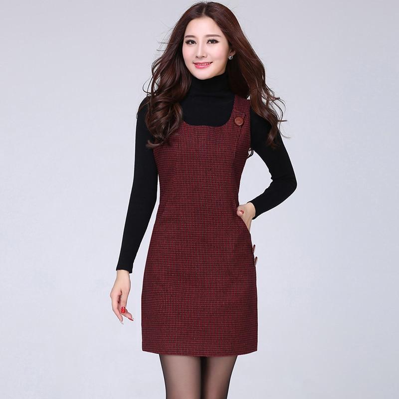 362f45c26b4a 2015 autunno e l inverno di lana vest dress abito senza maniche che basa  vestito passo in 2015 autunno e l inverno di lana vest dress abito senza  maniche ...