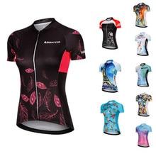 사이클링 저지 Maillot MTB 셔츠 자전거 셔츠 짧은 소매 2020 여름 Bicicleta MTB 여자 사이클리스트 Ropa Mujer Ciclismo