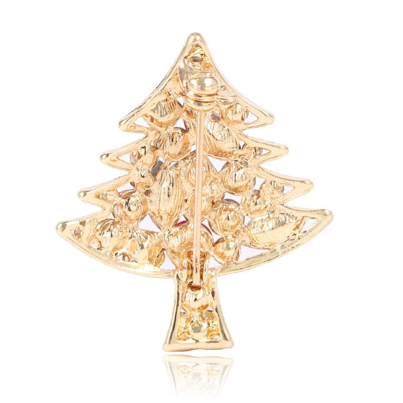 ... CINDY XIANG Shiny Crystal Christmas tree Brooches For Women Rhinestone  Fashion Pins Sweater Dress Accessories Party ... 42bfa1cfc54b