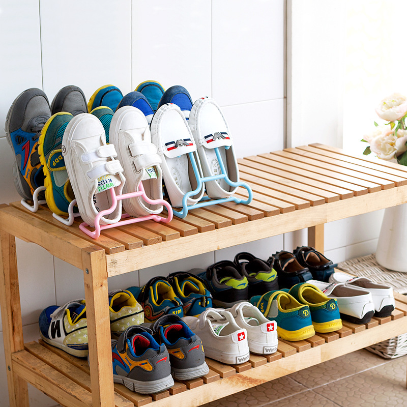 10PCS/Set Creative Multi-Function Children Kids Shoes Hanging Rack Stand Shelf Drying Shoes Hanger Rack Organizer Floor Type
