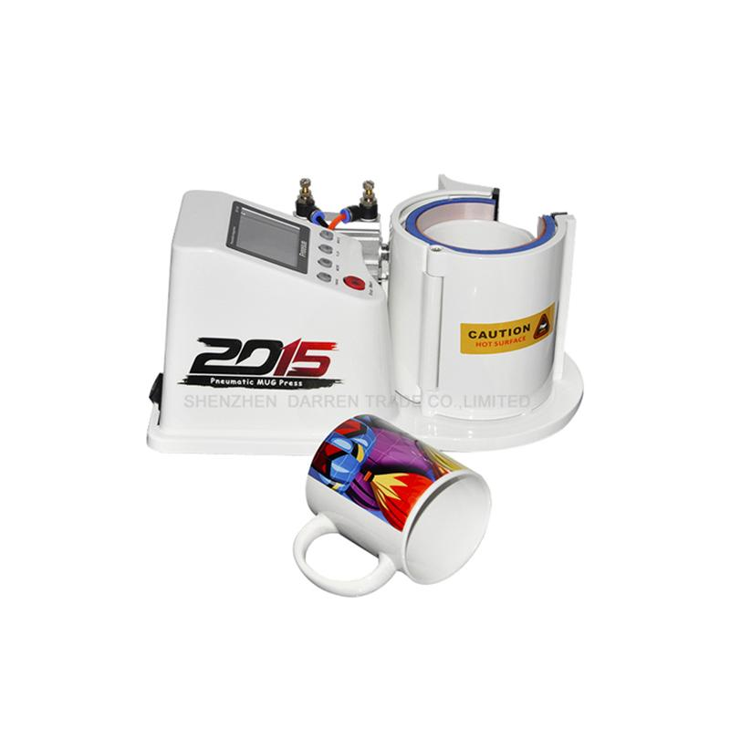 Printing cup machine Multi-function Heat Transfer Press Thermal Printing Mug Cup Machine Mini Pneumatic Vertical ST110 st110 pneumatic sublimation vacuum machine automatic heat press machine 11oz mug thermal transfer coffee magic cup mug printing