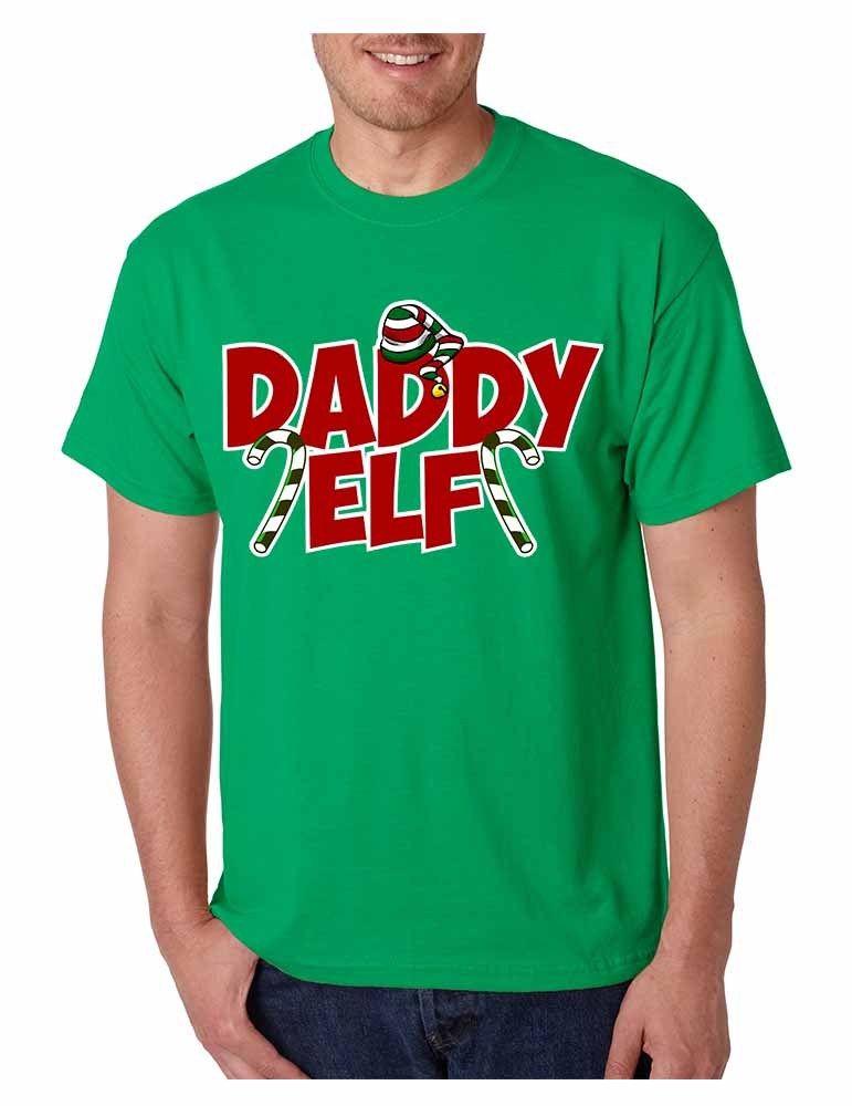 Для мужчин футболка папа эльф Уродливые Рождественские Прохладный подарок к празднику идея футболка Для мужчин принт