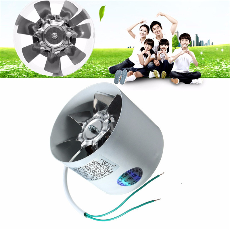 Duct Booster Vent Fan Metal 220v 20w 4 Inch Inline Ducting