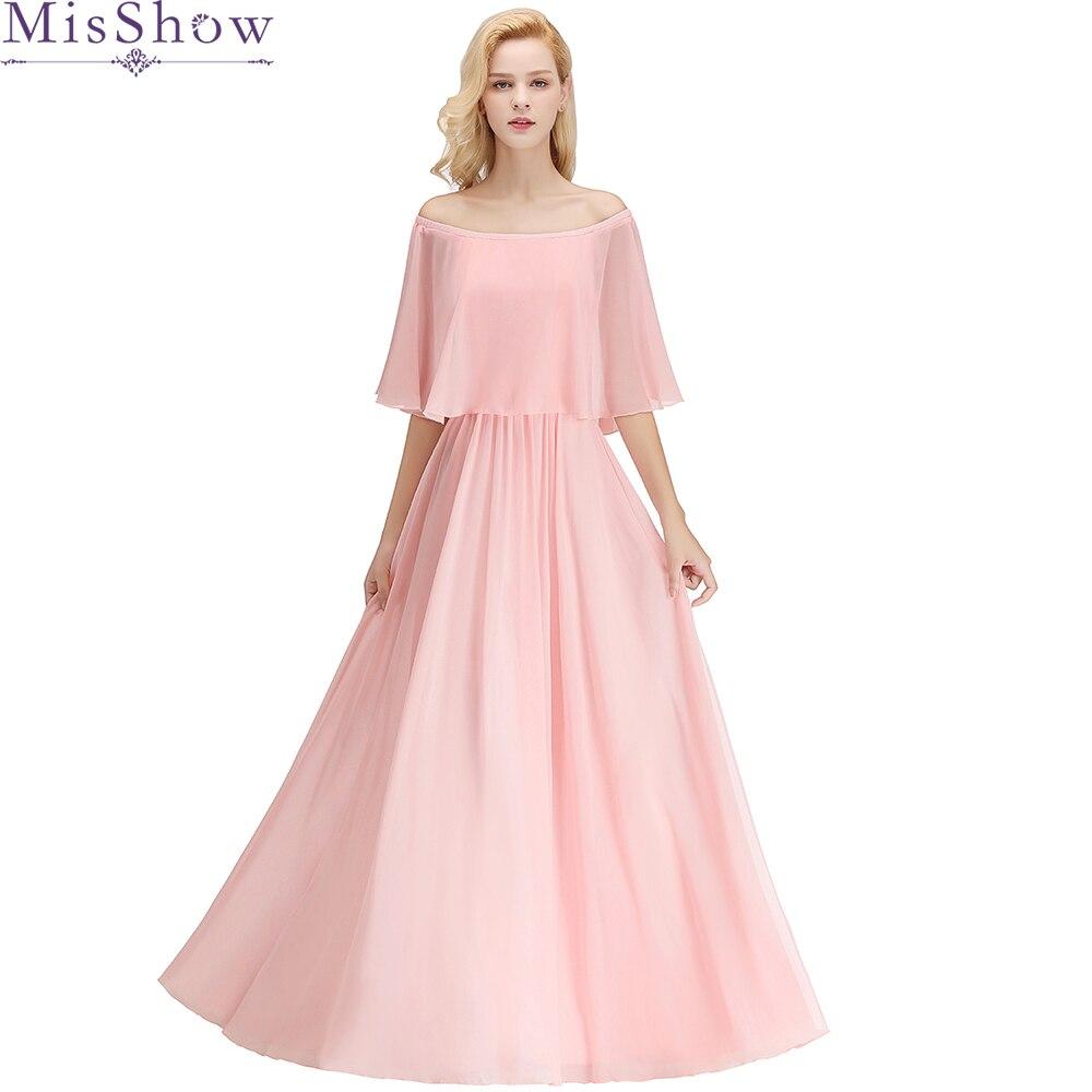 Comprar ahora Vestidos de dama de Rosa capa manga Formal dama de ...