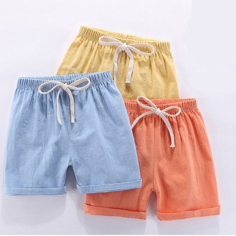 Boy Kids   Shorts   Children Summer Linen Cotton   Short   Pants For Boys Toddler   Shorts   Casual Clothing 3-8 Years Children's Clothing
