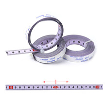 2M-0M-2M Self Adhesive Miter Saw Track Tape Measure Backing Metric Steel Ruler Tape Measurements