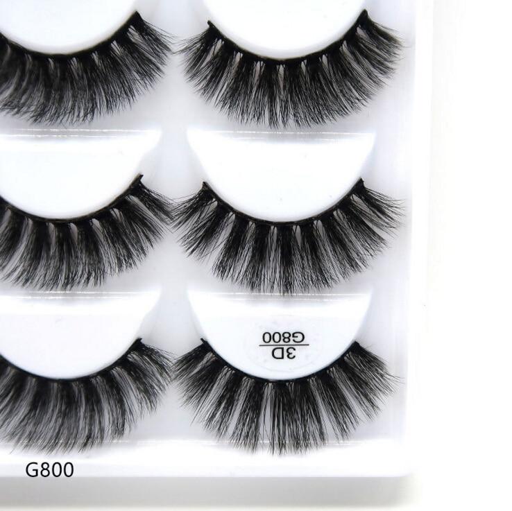Image 2 - 250 pairs/50box 100% Real Mink Fake Eyelashes 3D Natural False Eyelashes 3d Mink Lashes Soft Eyelash Extension Makeup Kit Cilios-in False Eyelashes from Beauty & Health