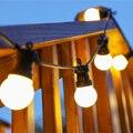 СВЕТОДИОДНАЯ Гирлянда Aurobear G50  13 м  с шаром  водонепроницаемая  для улицы  рождественские  свадебные  садовые  вечерние