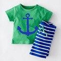 2016 Casual Boys Clothing Summer Boys Clothes Sport Suits T Shirt+Pants Corsair Cartoon Kids Clothing Set Roupas Infantis Menino