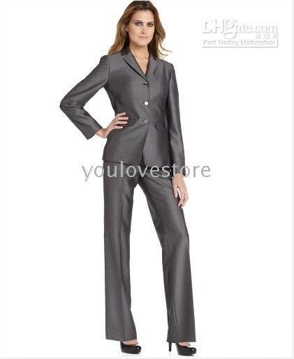 Gray Women Suits Brand Women Business Suit Women Career Suit