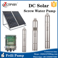 submersible water pump DC 24v 48v 3 inch stainless steel solar screw pumps soalr water pump kit for irrigation 120m