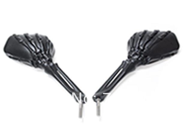 Custom Black Skeleton Mirrors For Yamaha Virago XV 250 500 535 700 750 920 1100 стоимость
