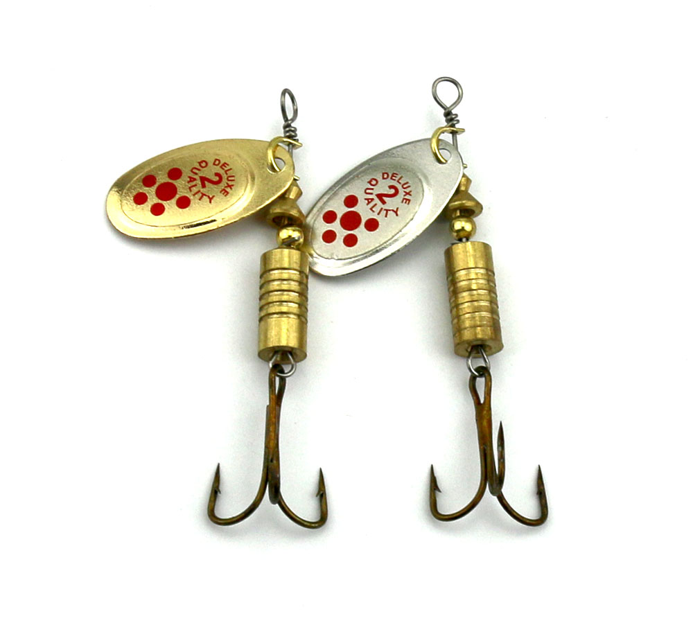 Hengjia 10pcs hot spoon lure metal metal spinner for Spinner fishing lures