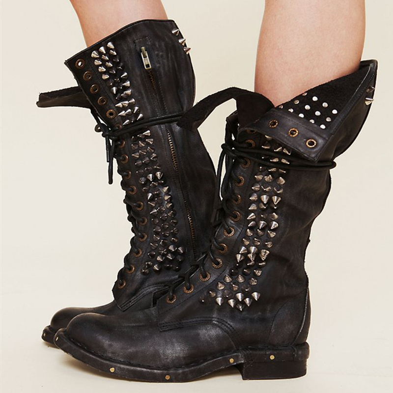 Online Buy Wholesale womens knee high combat boots from China