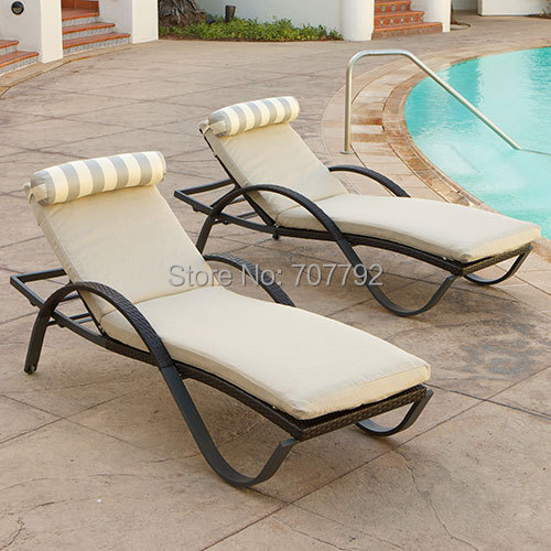 2017 aluminium garden furniture rattan single lazy lounger sofa