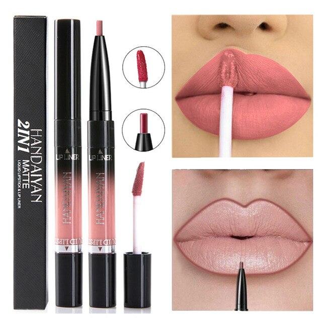 14 Color Liquid Lipstick Matte Red Lips Makeup Long Lasting Waterproof Matt Lip Stick Nude Pink Lips Liner Pencil Gloss Makeup