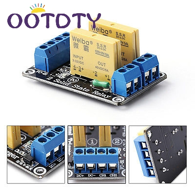 2 Channel SSR Solid State Relay High-low Trigger 5A 3-32V For UNO R3-ThZ 4 channel 5a high level trigger solid state relay module board 3 32v power supply and trigger voltage