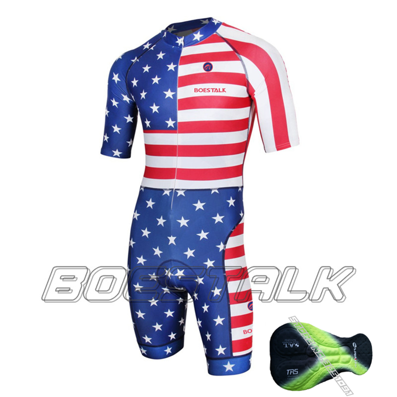 American Flag triathlon tight Kleidung sl PRO TEAM Lycra skinsuit cycling dh jersey evade High density Cushion Undertake custom