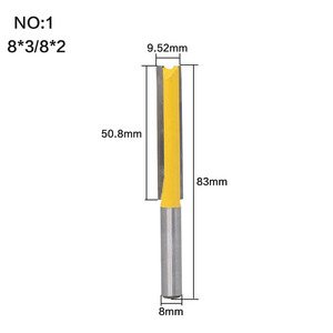 """Image 2 - 1 pc Straight/Dado Router Bit 1/2"""" Dia. X 3"""" Length   8"""" Shank Woodworking cutter Wood Cutting Tool"""