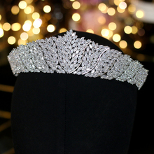ASNORA คลาสสิก CZ Cubic Zirconia ชุดแต่งงาน Headdress Crown Headband ผู้หญิงเครื่องประดับเครื่องประดับ