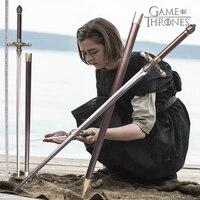 เกมของ Thrones Arya Stark เข็มดาบ 80 ซม. หรือ 98 ซม. วัสดุสแตนเลส home decor