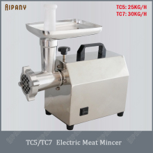 TC5/TC7 electric meat mincer machine food grade stainless steel meat grinder commercial sausage maker sausage making machine multifunctional commercial stainless steel electric meat grinder machine small business ground meat machine mincer machine