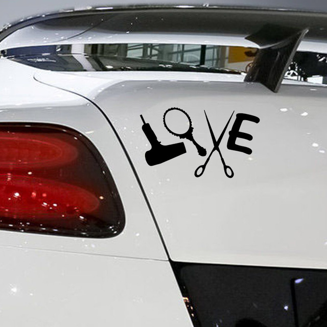 Aliexpresscom  Buy Love Hair Stylist Sticker Decal Dryer - Hair stylist custom vinyl decals for car