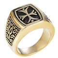 Mens Classic Vintage Cross Ring,stainless Steel Band,freemasonry Ring,free Masons Symbol