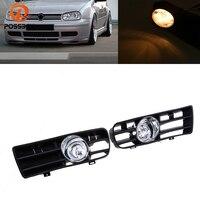 POSSBAY Halogen/LED Car Front Bumper Fog Light for Golf 4 Daytime Running Driving Light for VW Golf/Variant/4 Motion 1998 2006