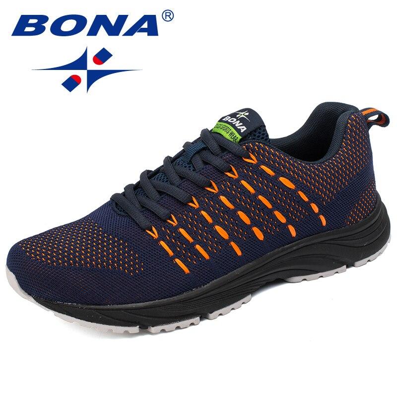 BONA Neue Populäre Art Männer Laufschuhe Mesh Weben Oberen Sportschuhe Ourdoor Jogging Walking Sneakers Lace Up Kostenloser Versand