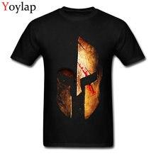 Spartan ii 100% algodão t camisas para meninos de manga curta casual topos t camisa na moda verão/outono em torno do pescoço t camisas legal