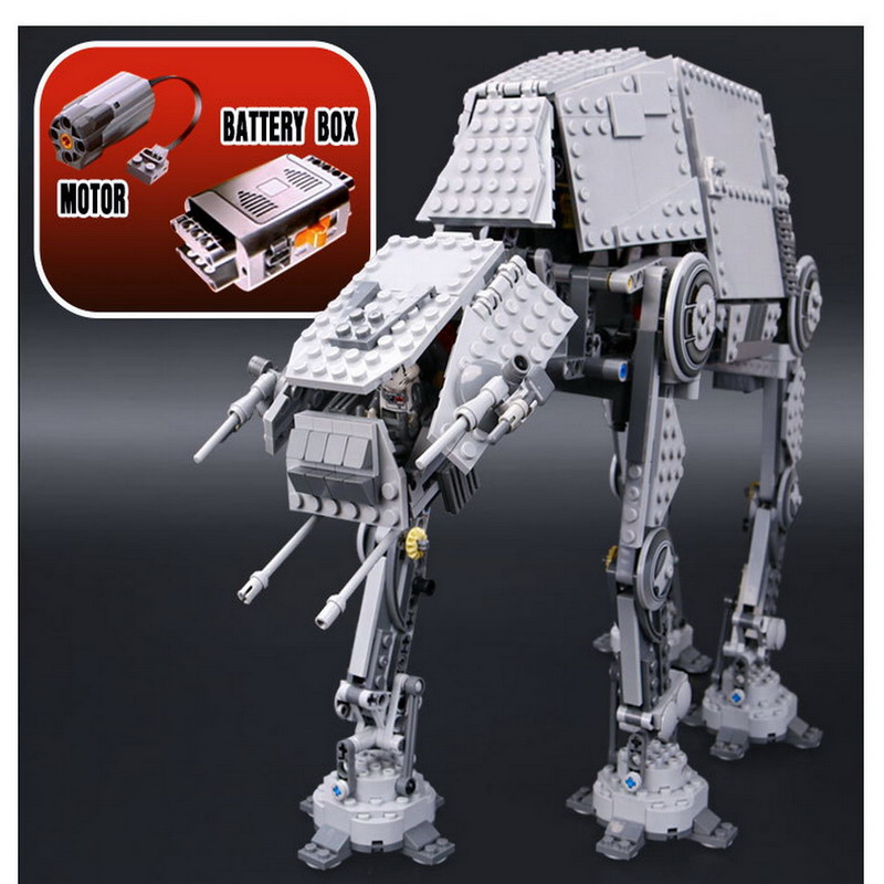 05050 LEPIN STAR WARS Motorized Walking AT-AT Model Building Blocks Classic Enlighten Figure Toys For Children Compatible Legoe lepin 05035 star wars death star limited edition model building kit millenniums blocks puzzle compatible legoed 75159