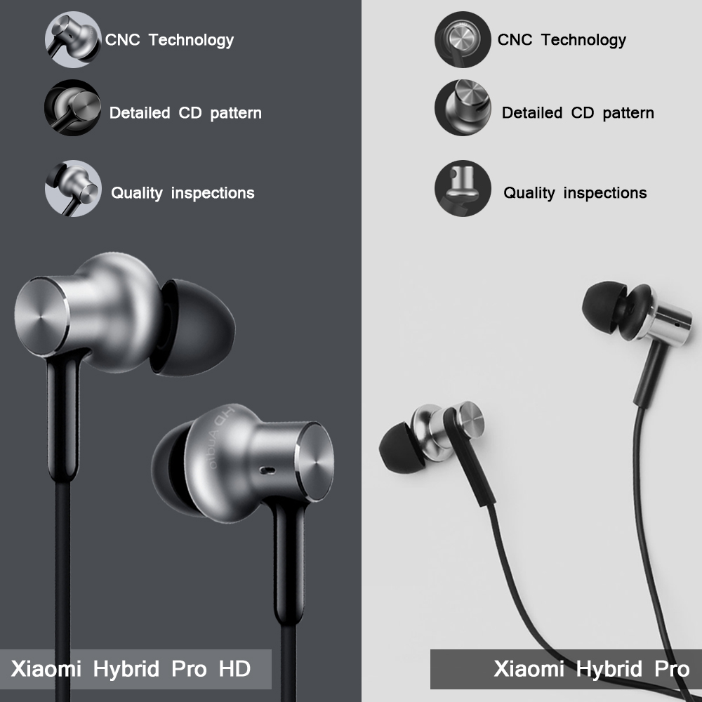 c2e36bdfb5c Original Xiaomi Hybrid Pro HD Earphone Circle Iron Wired Xiaomi Earset  Noise Reduction for Redmi Mi In Ear Earphones Pro HD -in Phone Earphones &  Headphones ...
