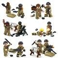 12 UNIDS Guerra Mundial 2 Bioquímicos Guerra Soldado Militar EE.UU. VS Zombie Con Armas Compatible Legoe Modelo Juguete del Ladrillo