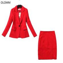 Женский костюм красная сумка с высокой талией юбка в стиле хип