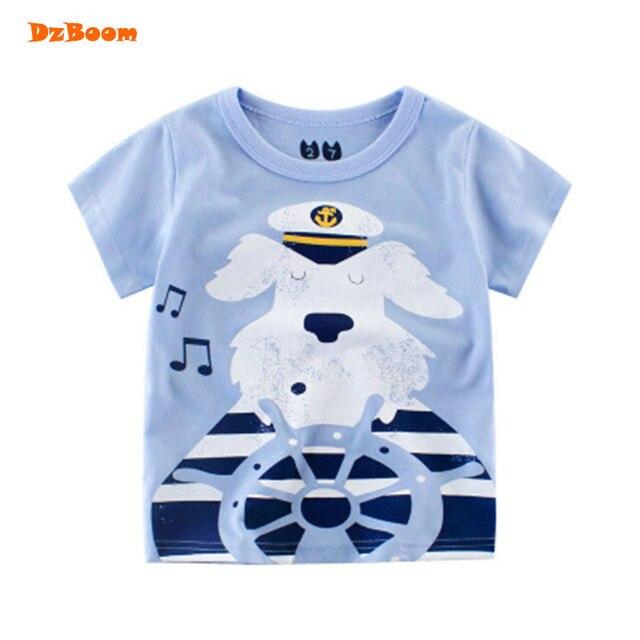 df80530cfc84 DzBoom Children s T Shirt Boys Baby Clothing Little Boy Summer Shirt Tees  Designer Cotton Cartoon Dog Print Brand T-shirt