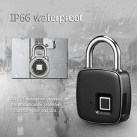 Fingerprint Padlock Smart Keyless Lock Waterproof Anti theft Security Lock Portable USB Charge Padlock For Luggage Cabinet Door