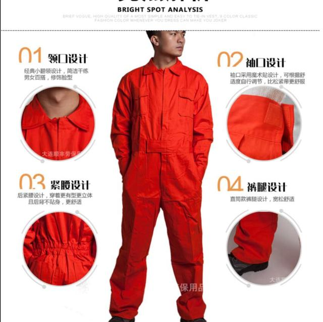 M-4xl Work Siamese Overalls Men's Auto Repair Suit Female Spring And Autumn Work Jumpsuit Long-sleeved Cotton Tooling Coverall 3