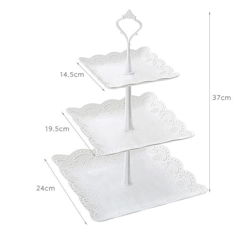 Image 3 - High Quality 3 Tier Cake Stand Tray Decor Round Cupcake Wedding Birthday Party Afternoon Tea Cake Stand-in Storage Trays from Home & Garden