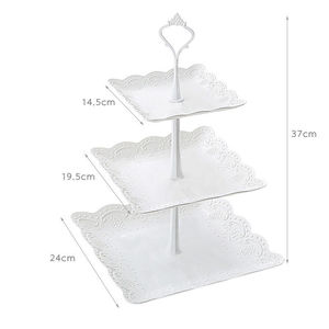 Image 3 - High Quality 3 Tier Cake Stand Tray Decor Round Cupcake Wedding Birthday Party Afternoon Tea Cake Stand