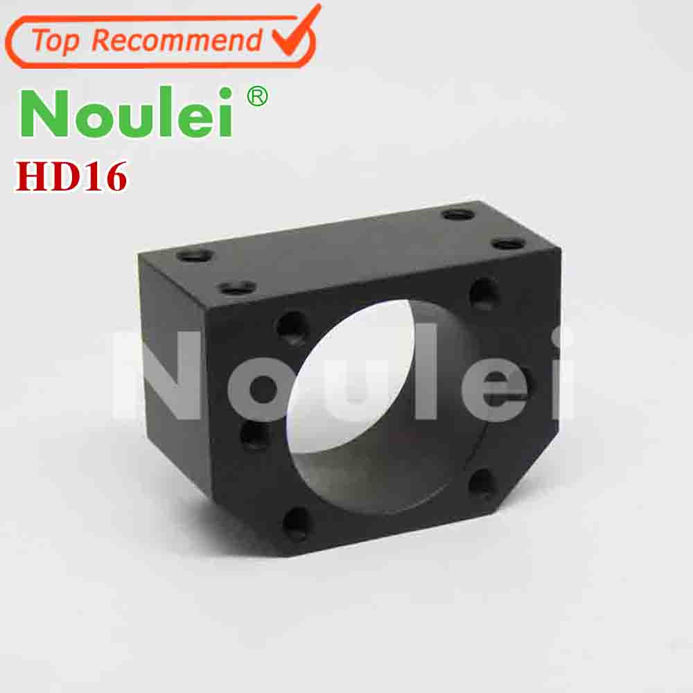 HD16 SFU1605 ball screw nut housing Black or silver for 1605 16mm ball screw nut housing bracket holder CNC parts 1pcs