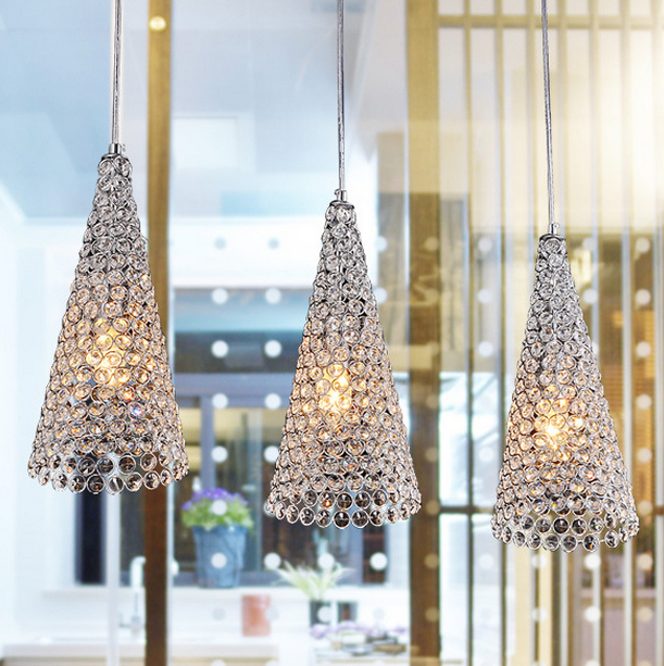 Modern Crystal Chandelier Light E14 Sconce K9 Christmas Lamp Foyer Lamps Shade Home Decor Luminaire FRHC
