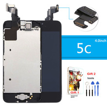 lcd for iphone 5c display touch screen with digitizer home button front camera speaker assembly Tempered Glass Tools Gift