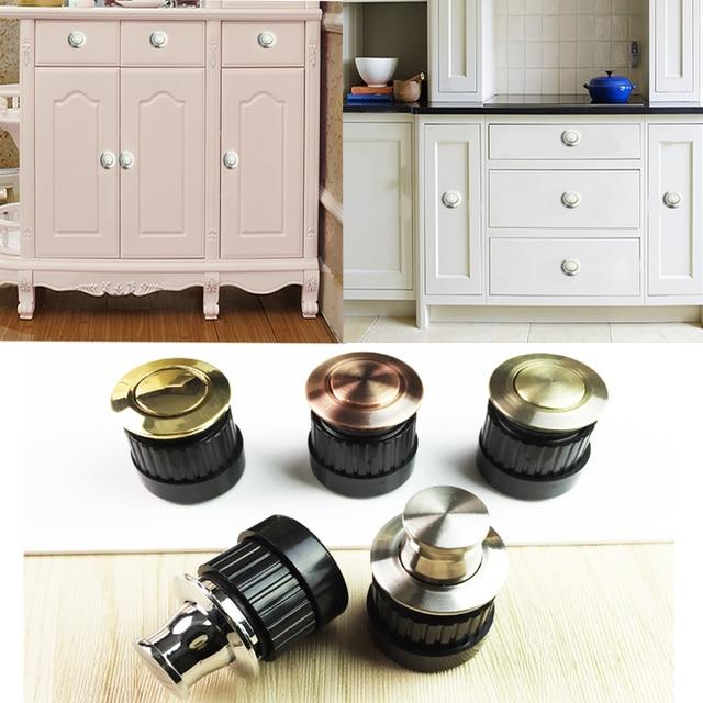 4pcs Lot Push Pop Up Kitchen Cupboard Cabinet Knob Spring